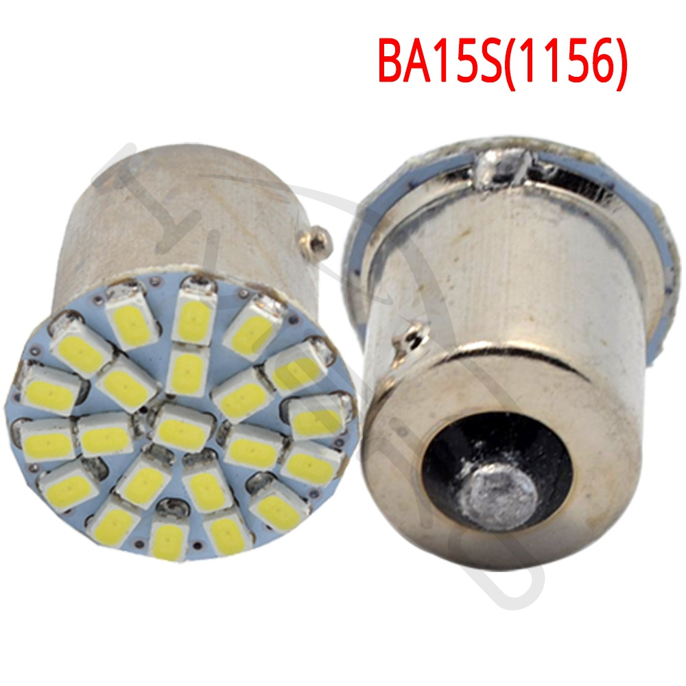 Hviero P21W White 1157 BAY15D 1156 BA15S 1206 22SMD Car LED Brake Turn Light Auto Front Parking Lamp mobile Wedge Lamp Tail Bulb DC 12V