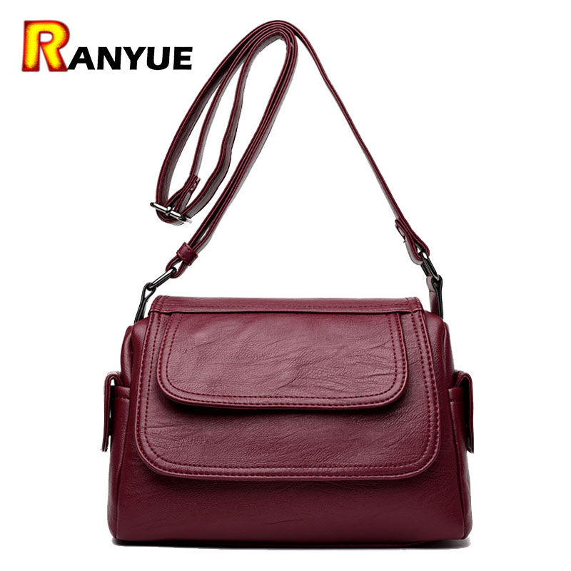 ФОТО Genuine Leather Bags Women Real Leather Handbags Crossbody Bags For Women High Quality Famous Brand Designer Women Shoulder Bag