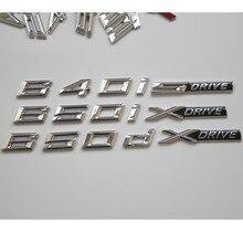 Chrome Letters Trunk Emblem Emblems Badges for BMW F13 Coupe 640i 650i 640d 650d XDrive SDrive