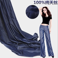 Wholesale Heavy 100% all-day wire silk denim fabric,print satin fabric,tweed fabric Pants Dress Fabric tecido B229