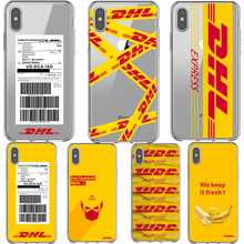 Phone Cases Soft Silicone Transparent Yellow Design Luxury Logo DHL Cover Case For iPhone 7 8Plus XS MAX 6 6SPlus 5s 8 SE X XR