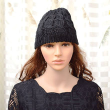2425d925b7c Casual Lady Women s Loose Beanie Black Hat Caps New Winter Women Men s  Skullies Warmth Knitted Beanies