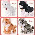 Мягкие электронные игрушки для домашних животных с звуковым управлением  электрическая подставка для кошек  милые интерактивные игрушки д...