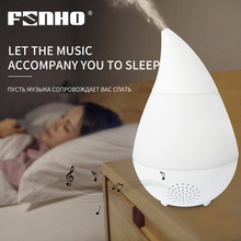 FUNHO Ultrasonic Air Humidifier Wireless Bluetooth Music Aromatherapy Machine Cool Mist Maker 7 Color Change Light Home Office