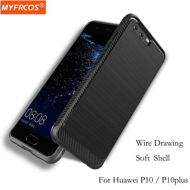Case para huawei p10 p10plus lujo trefilado tpu cubierta Protección completa Fun