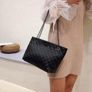 Image 3 - Luxury Brand Plaid Crossbody bags for women 2020 Large Female Handbags Designer Black Leather Messenger Tote Women shoulder bag