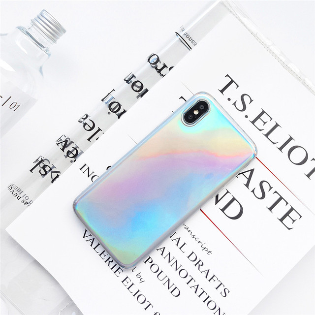 new style 95d00 c4214 US $3.79 |Fashion Glossy Holographic Iridescent Laser Multicolor Radiancy  Phone Case for IPhone X 6 6S 6P 7 7P 8 8P XS XR XS MAX-in Fitted Cases from  ...