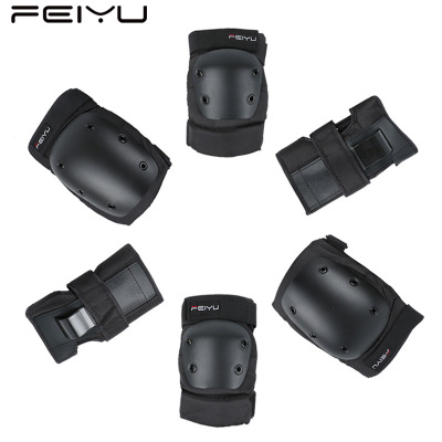 Multi-function Elbow Knee Body Protection Gear Set Skateboard Skating Cycling Support Sports Safety Roller Hand Elbow Knee Pads 5pcs in 1 outdoor sports protection skiing hip pad knee pads wrist support palm for roller skating snowboard protection black