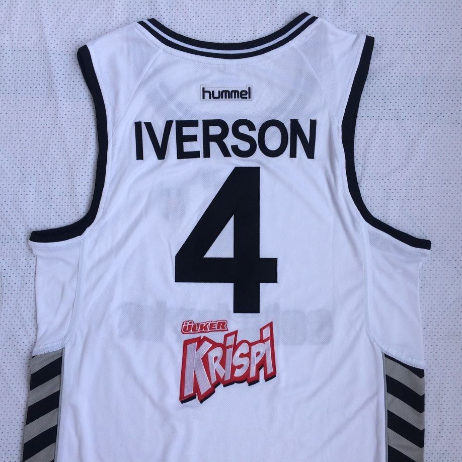 0b37b2cc4 New Cheap Allen Iverson 4 Basketball Jerseys Colas Turka Throwback Stitched  Embroidery Retro High Quality Shirts For Man-in Basketball Jerseys from  Sports ...