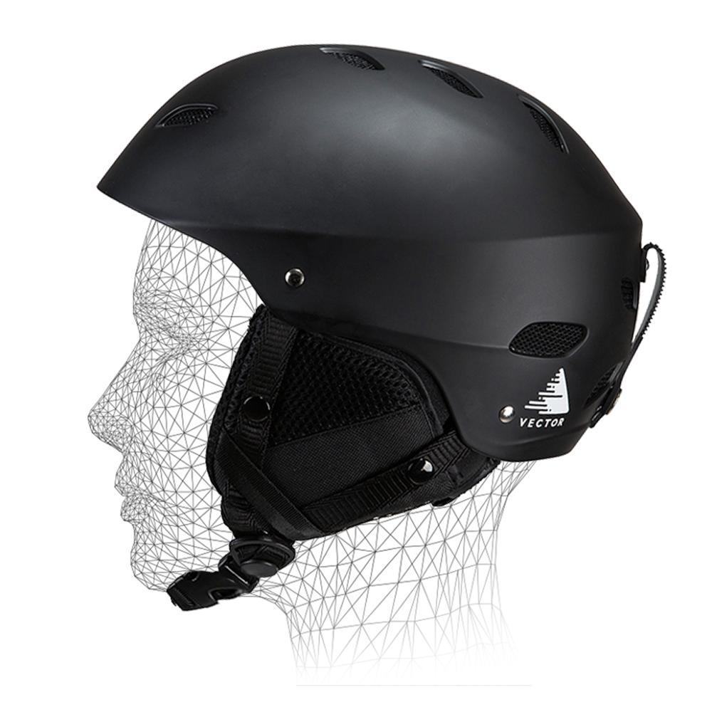 プロゴーグルマスクスキーヘルメット男性女性大人 Ce オートバイスケートスケートボードスノーボード雪アウトドアスポーツ安全暖かい  グループ上の スポーツ & エンターテイメント からの スキー ヘルメット の中 1