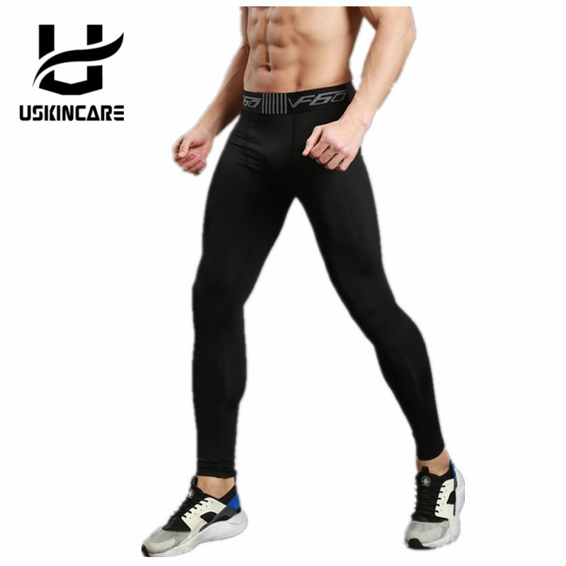 USKINCARE Sport Pants Men Running Trousers Compression Elastic Leggings Male Sportswear Fitness Cycling Hiking Pants