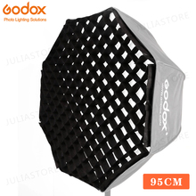 Godox Portable 95 cm 37 5 #8222 siatka o strukturze plastra miodu parasol Photo Softbox reflektor do lampy błyskowej (siatka o strukturze plastra miodu tylko) tanie tanio 95cm Nylon Octagon