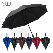 YADA Hight Quality Big Parasol Long Handle Automatic Umbrella For Women Men Anti-UV Sun Rain Stick Golf Straight YS308