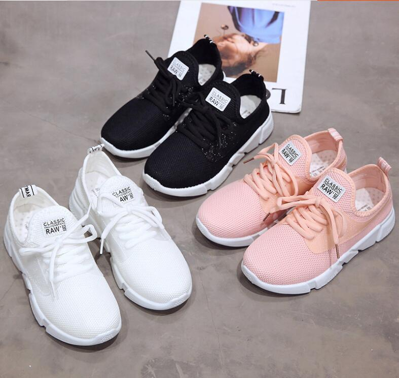 18 Summer Air Mesh Student Breathable Lace Up Outdoor Women Shoes Lightweight Woman Vulcanized Sneakers Shoes 2