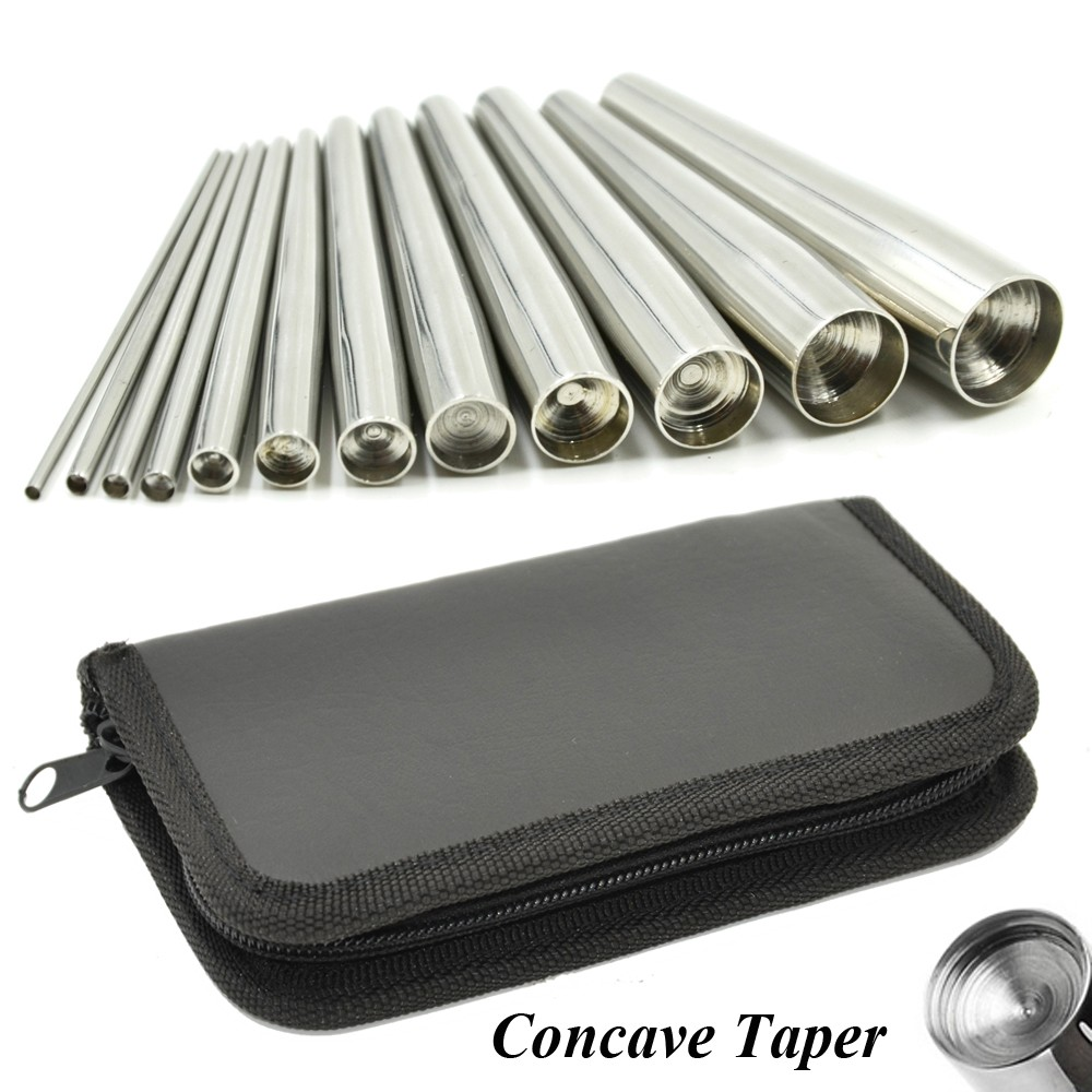12pcs Professional Body Piercing Tool Surgical Stainless Steel Concave Ear Taper Stretching Kit Professional Insertion Pins Set surgical stainless steel oral examination tool kit silver