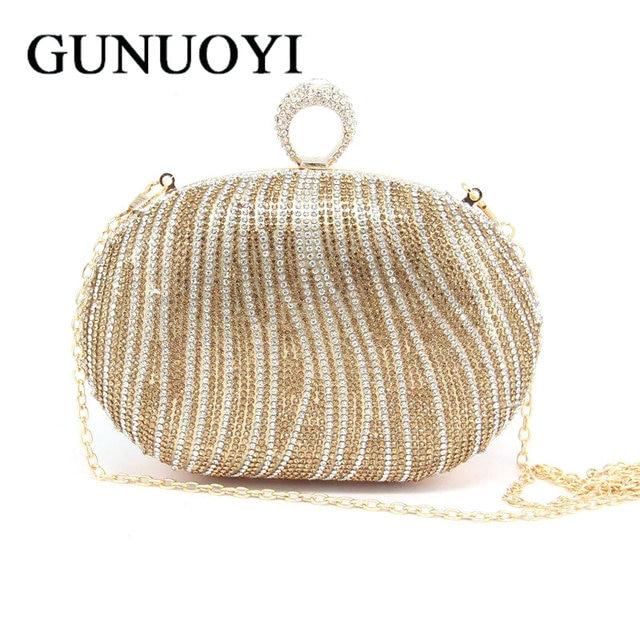 2016 Evening Bag Clutch Bags Lady Wedding Purse Rhinestones Wedding Handbags Silver/Gold/Black Evening Clutch Bags JM08-1