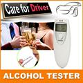 2pcs Prefessional Police Portable Breath Alcohol Analyzer Digital Breathalyzer Tester Body Alcoholicity Meter Alcohol Detection