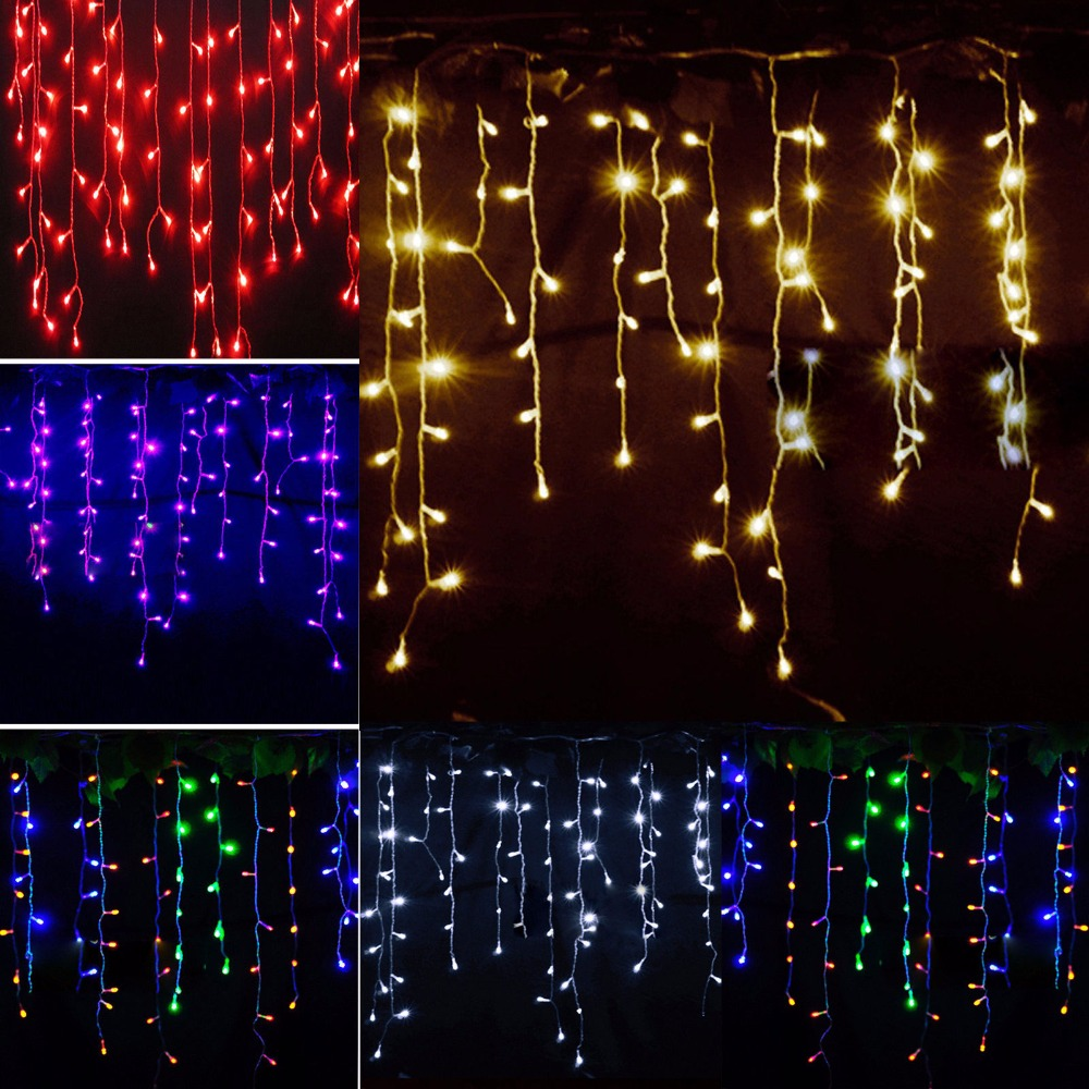 Hot 3.5 m 96 led White Holiday Festival Curtain Wedding Lights LED String Strip ice bar lamp Garlands for PARTY FAIRY CHRISTMAS