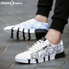 Men Canvas Shoes Print Fashion Brathable For Mens Flat Sneakers Top Quality tenis masculino