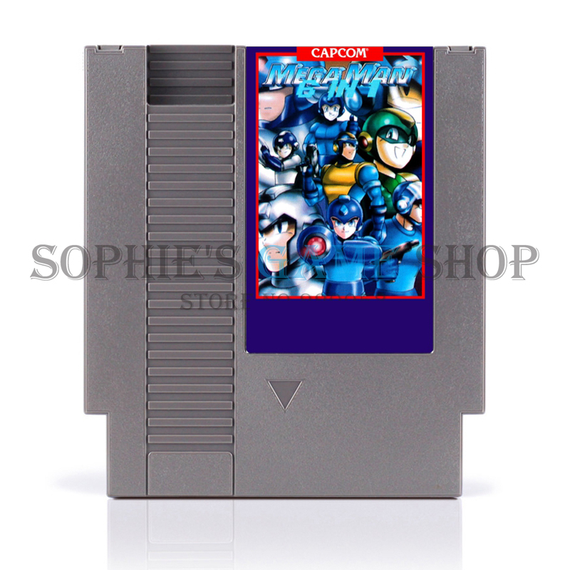 Mega man 6 In 1 Region Free <font><b>Game</b></font> <font><b>Card</b></font> For <font><b>72</b></font> <font><b>Pin</b></font> 8 Bit <font><b>Game</b></font> Player image