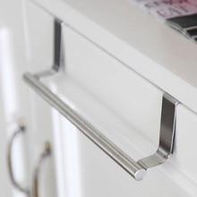 2 размера Вешалки для полотенец над дверью вешалка для полотенец бар подвесной держатель для ванной комнаты на полку кухонного шкафа