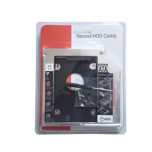 12.7MM SATA 2nd disque dur HDD SSD Caddy adaptateur pour HP ProBook 4340s 4341s 4440s 4441s 4445s 4446s s (lunette de lecteur optique cadeau)