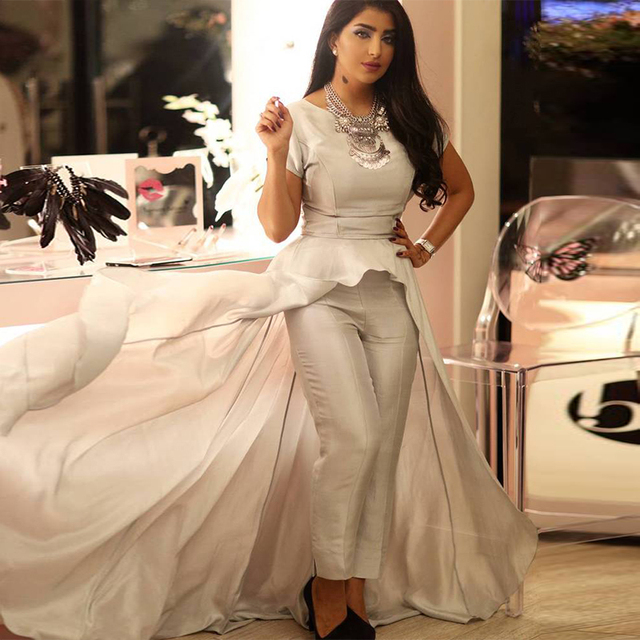 2016 New Coming Middle East Women Evening Wear Pant Suit