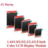 1.44/1.8/2.0/2.2/2.4/2.8 Polegada tft tela colorida módulo de exibição lcd unidade st7735 ili9225 ili9341 interface spi 128*128 240*320 Módulos LCD Componentes Eletrônicos e Peças -