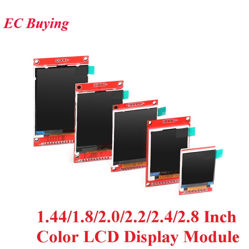 1.44/1.8/2.0/2.2/2.4/2.8 Inch TFT Color Screen LCD Display Module Drive ST7735 ILI9225 ILI9341 Interface SPI 128*128 240*320 image