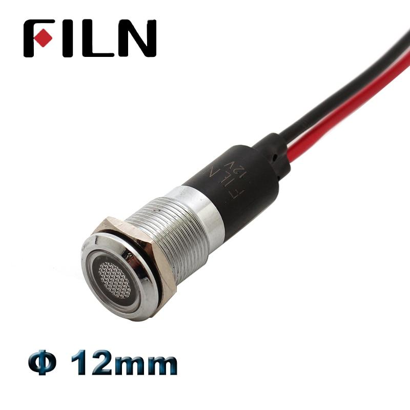 24V 22mm 10 Pieces Red LED Indicator Pilot Signal Light Lamp