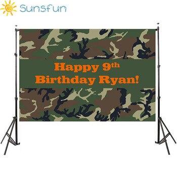 Sunsfun-Fondo de camuflaje de vinilo para fotografía de recién nacidos, 5x3 pies,...