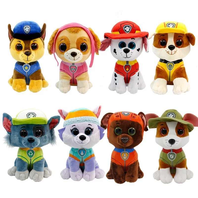 Pata patrulha cão 20cm boneca de pelúcia anime crianças brinquedos figura de ação boneca de pelúcia modelo de pelúcia e animais de pelúcia brinquedo presente