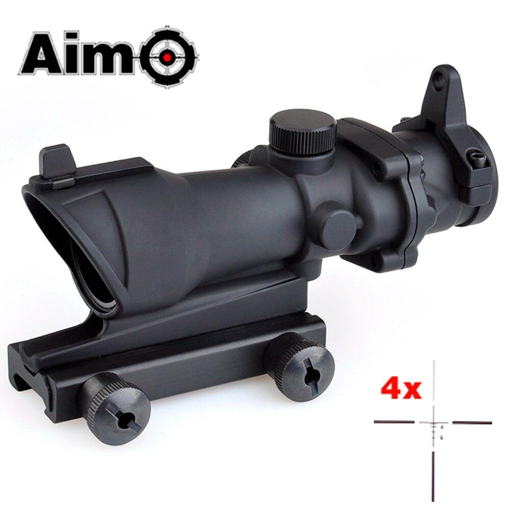 Visée-O lunette de visée tactique pistolet Softair collimateur viseur télescope ACOG 4x32 Airsoft Scope AO5310 acog 4x32 optique de chasse