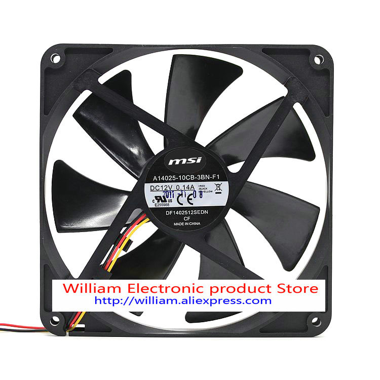 New Original FONSONING chassis cooling fan A14025-10CB-3BN-F1 12V 0.14A 140*140*25MM 14CM nmb new and original fba09a12m 9025 9cm 12v 0 2a chassis silent cooling fan 90 90 25mm