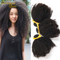 7A Mongolian Kinky Curly virgem cabelo Mongolian Afro Kinky Curly cabelo 3 Bundles Rosa loja cabelo rainha produtos de cabelo humano Weave