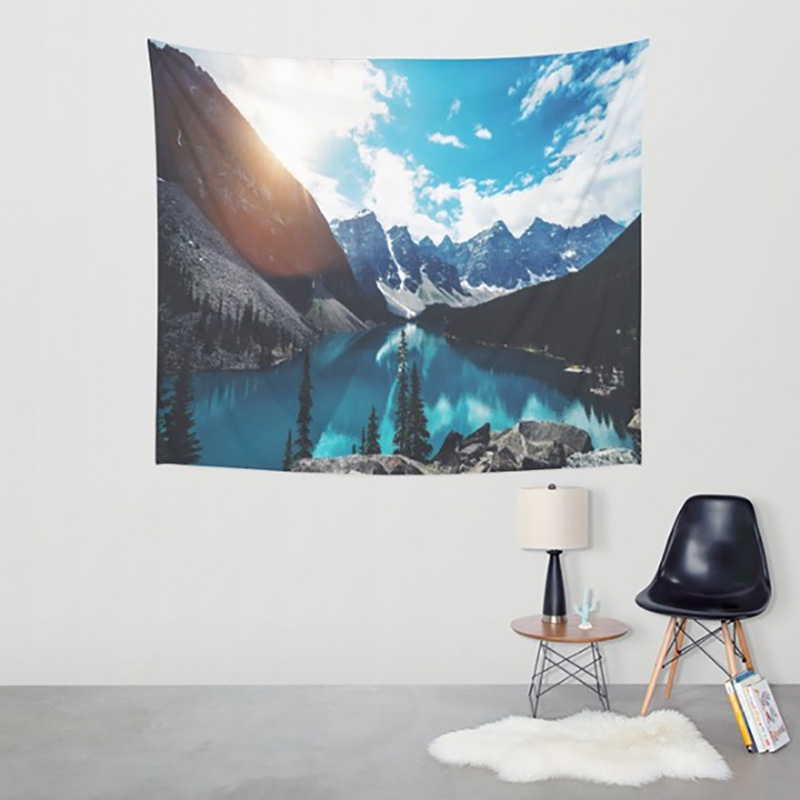 Amazing Graceful Nature Landscape Beautiful Sight Printed Wall Hanging Tree Natural Scenery Tapestry Living Room Decor