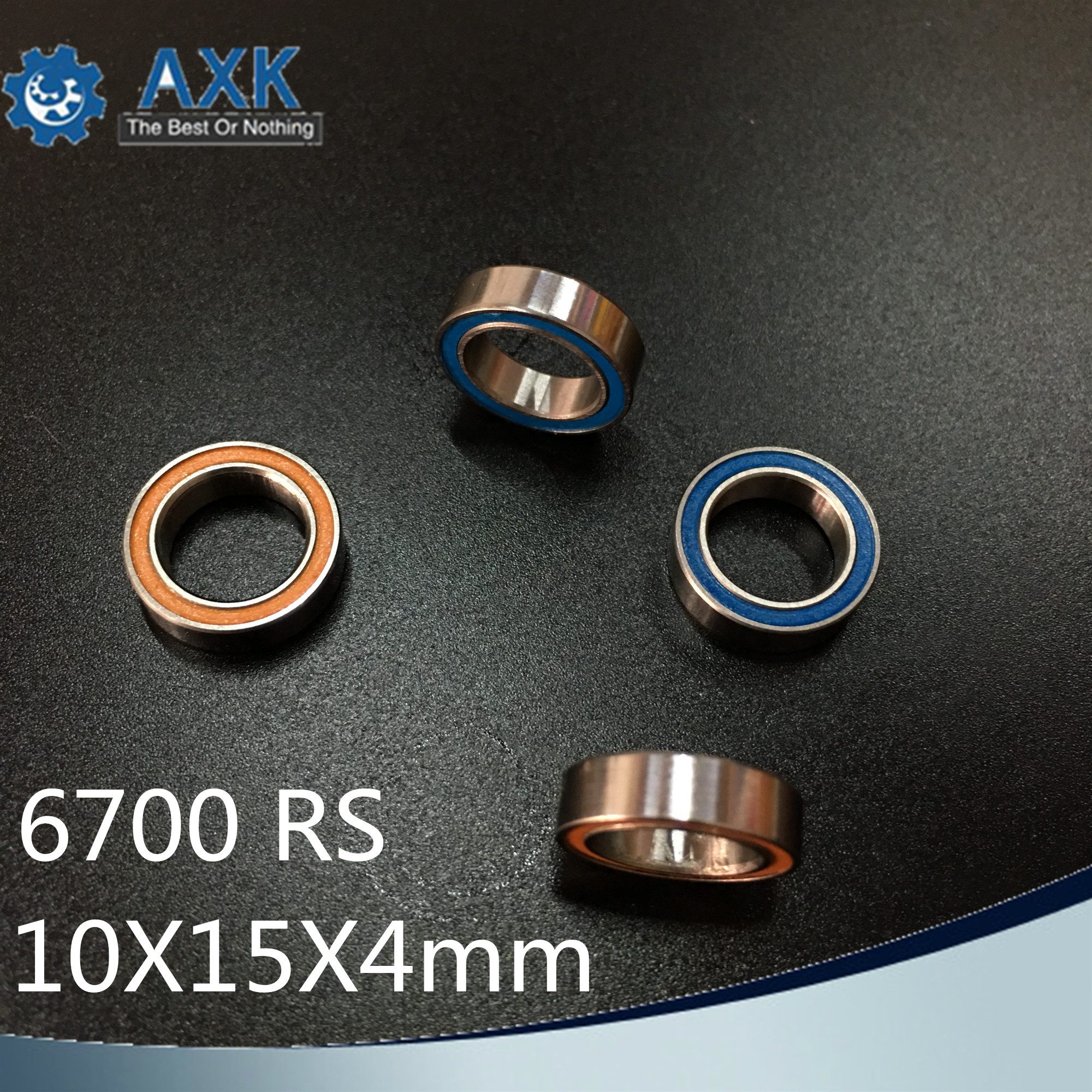 6700RS Bearing 10PCS 10x15x4 mm ABEC-3 Hobby Electric RC Car Truck 6700 RS 2RS Ball Bearings 6700-2RS Blue/Orange Sealed6700RS Bearing 10PCS 10x15x4 mm ABEC-3 Hobby Electric RC Car Truck 6700 RS 2RS Ball Bearings 6700-2RS Blue/Orange Sealed