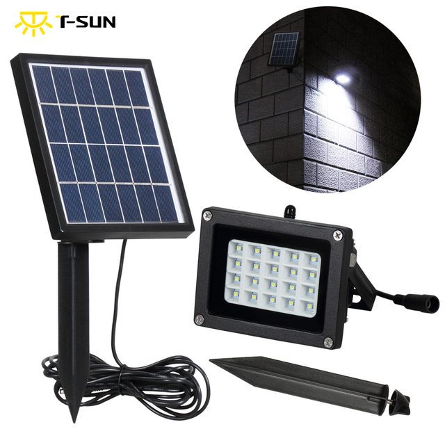 T sunrise led flood light with solar panel 10w solar spotlight t sunrise led flood light with solar panel 10w solar spotlight outdoor lighting waterproof ip65 mozeypictures Gallery