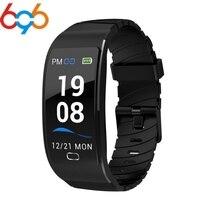 696 S7 IP68 Tela Colorida Pulseira Inteligente Pulseira Monitor De Freqüência Cardíaca À Prova D' Água Inteligente Smartwatch para Android IOS|Pulseiras inteligentes| |  -
