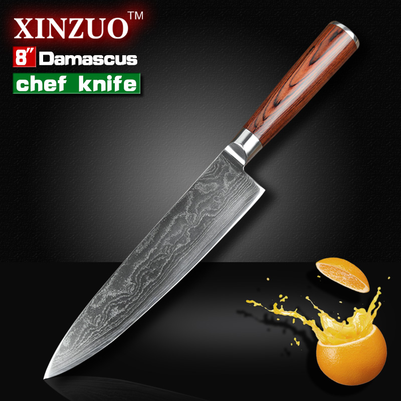8 inch chef font b knife b font Japanese VG 10 73 layers Damascus steel kitchen
