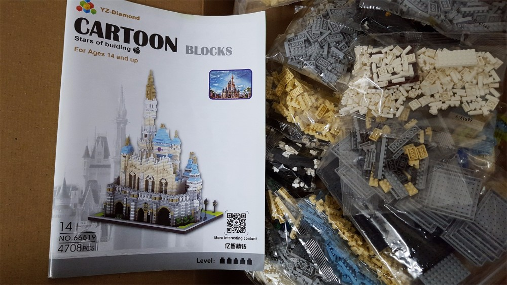 YZ Diamond blocks World famous building Castle 66519