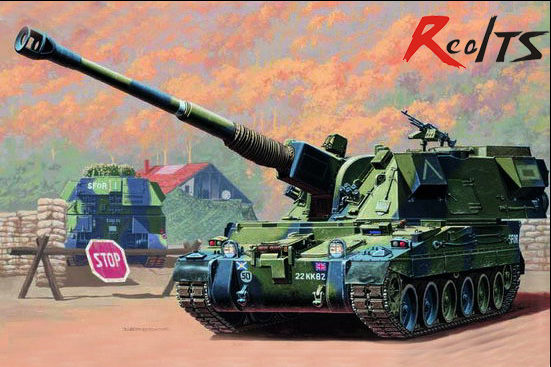 RealTS <font><b>Trumpeter</b></font> <font><b>1/35</b></font> 00324 British 155mm AS-90 Self-Propelled Howitzer plastic model kit image