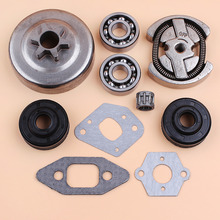 3/8 6 Teeth Clutch Drum Sprocket Bearing Oil Seal Gaskets Kit Fit Partner 350 351 352 370 371 390 420 Chainsaw Spare Parts chainsaw sprocket rim big 3 8 7t teeth for stihl ms361 381 660 husqvarna 51 55 268 282 365 clutch drum replaces parts 30pcs