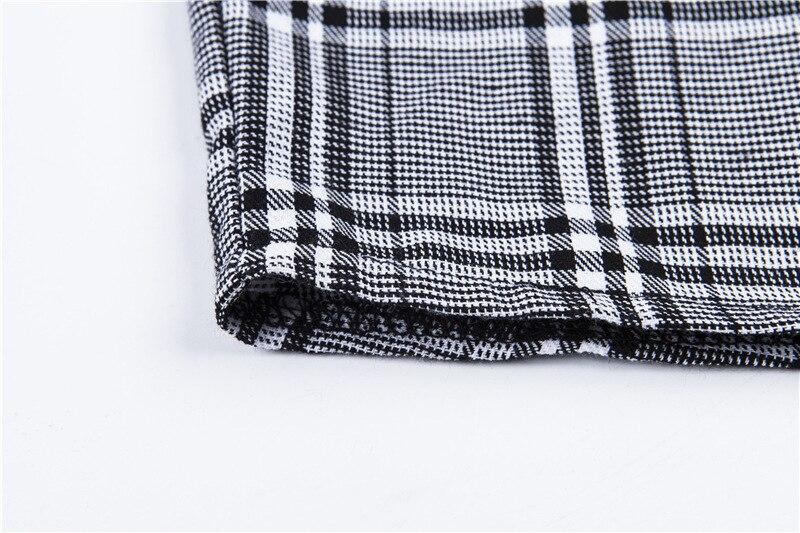 3119af95cb5d 2019 Cryptographic Fashion Checkered High Waist Skirt Slim Plaid ...
