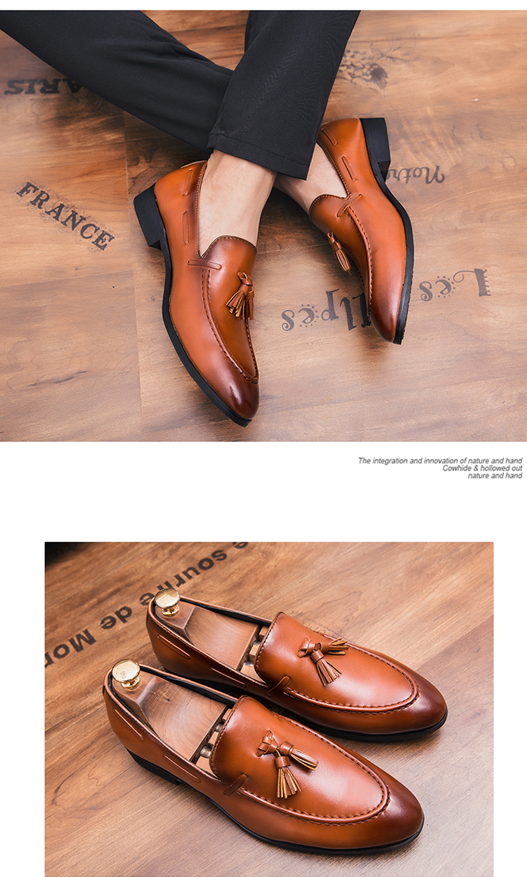c58eb9b6 Compre HEINRICH Elegantes Zapatos Hombres Marca Italiana Borlas ...