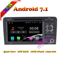Roadlover 2G+16GB Android 7.1 Car DVD Player For Audi A3 (2003 2013)Stereo GPS Navigation Quad Core Head Unit 2Din Auto Radio 3G