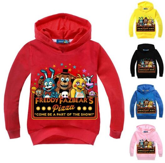 Autumn Five Nights At Freddys FNaF children's Clothes pure cotton T Shirts Baby Girls boys Long Sleeve hoodies kids sweatshirts(China)