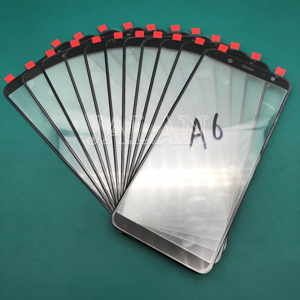 Jalan Depan Kaca untuk SM A600 A605 Retak Perbaikan Kaca Depan Kaca Pengganti untuk SM A6 Plus 2018 Layar LCD perbaikan