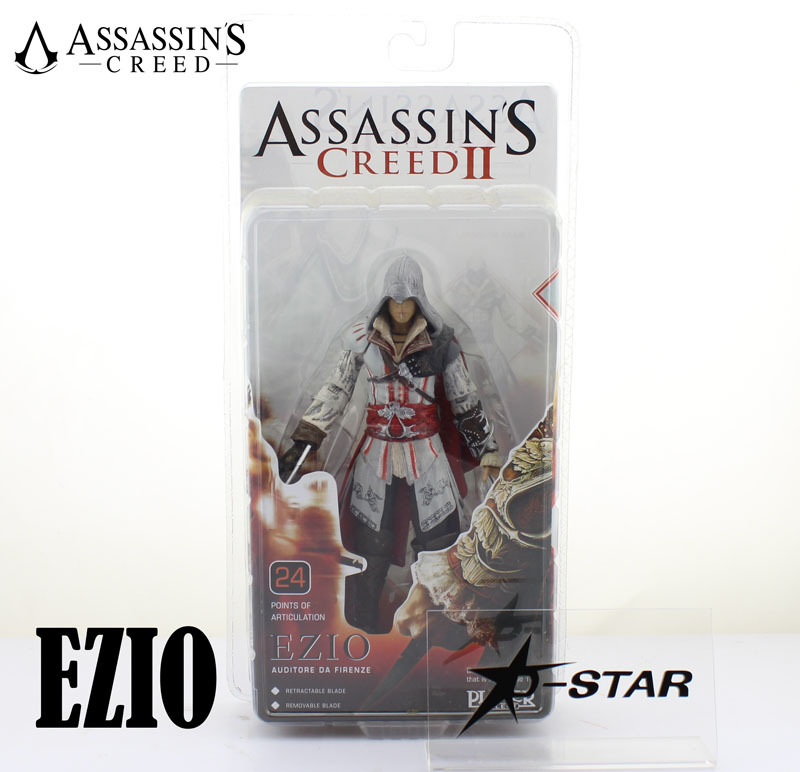 ᗐEnvío Gratis NECA Cool 7 Assassins Creed II Ezio 18 cm acción PVC ...