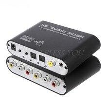 Dts digital ac3 óptico para analógico 5.1ch, decodificador de som surround, decodificador de som coaxial para 6rca, envio direto